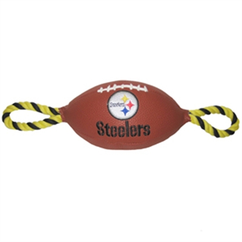 Pittsburgh Steelers Pebble Grain Football Dog Toy