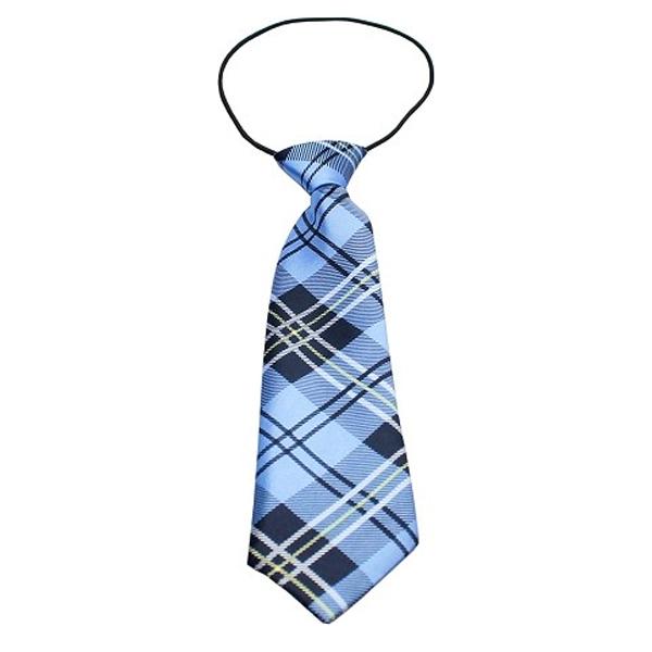 Plaid Big Dog Neck Tie - Blue at BaxterBoo