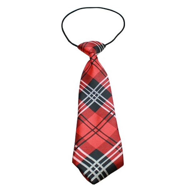 Plaid Big Dog Neck Tie - Red at BaxterBoo