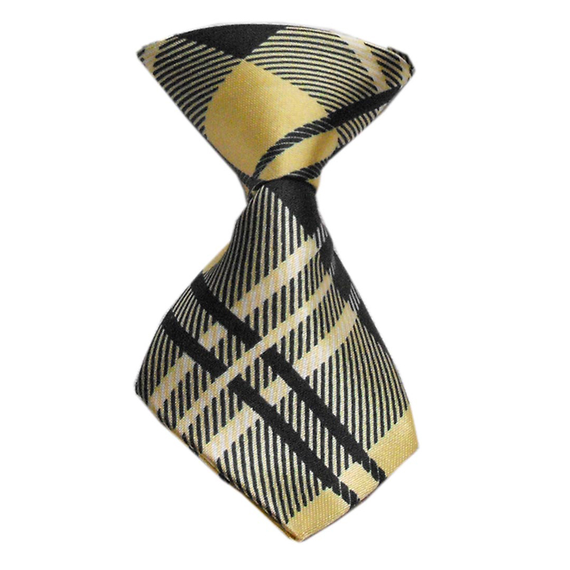 Plaid Dog Neck Tie - Cream | BaxterBoo