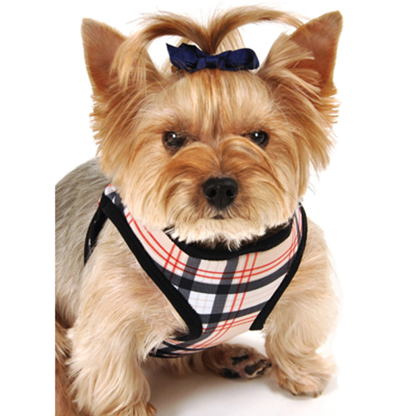 Plaid Step-In Dog Harness - Tan