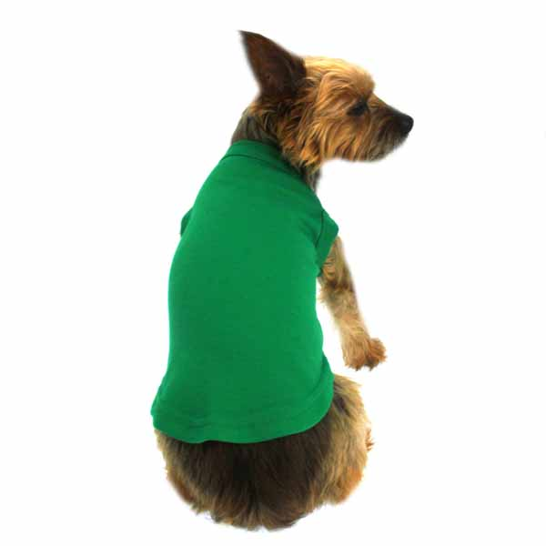 Plain Dog Shirt - Emerald Green