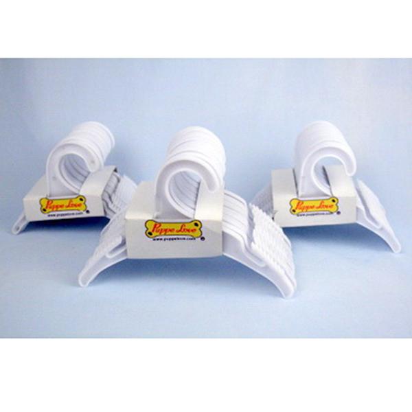 Plastic Dog Hangers -12 Pack