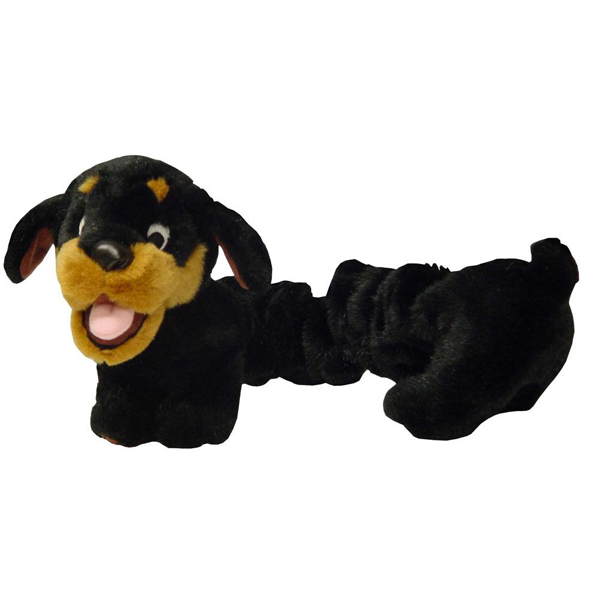 Plush Puppies Bungee Rottweiler Dog Toy