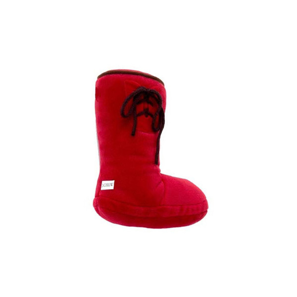 Plush Smelly Wellie Boot Dog Toy - Red