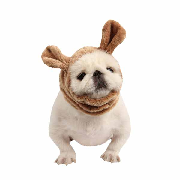 Poofy Dog Snood by Puppia - Beige