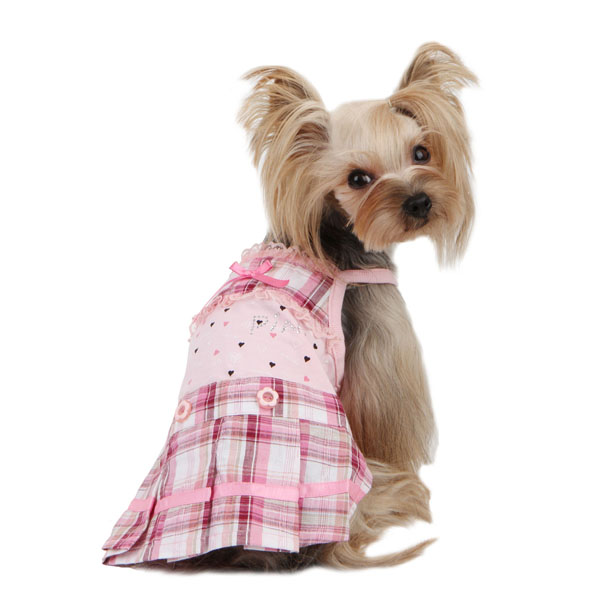 Pre-School Dog Dress by Pinkaholic - Pink