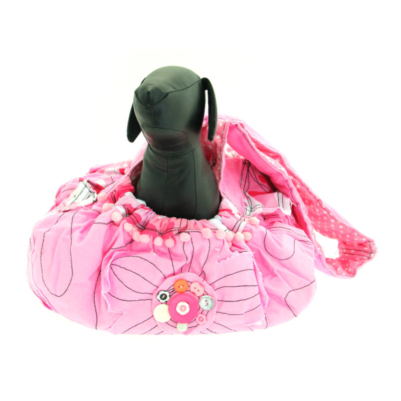 Pretty in Pink Sling Dog Carrier