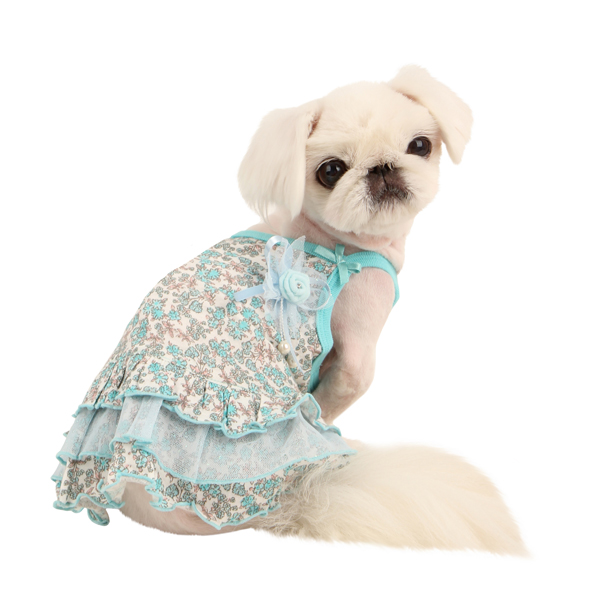 Primavera Dog Dress by Pinkaholic - Aqua