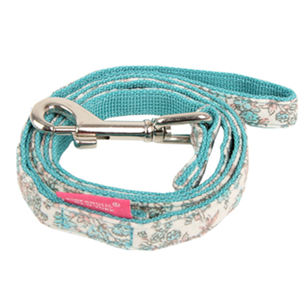 Primavera Dog Leash by Pinkaholic - Aqua