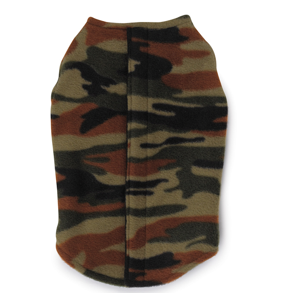Printed fleece vest with ripstop chest camo baxterboo