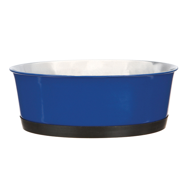 ProSelect Colored Stainless Steel Bowl with Rubber Base - Blue