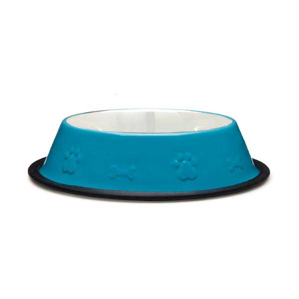 ProSelect Embossed Stainless Steel Non-Skid Bowl - Blue