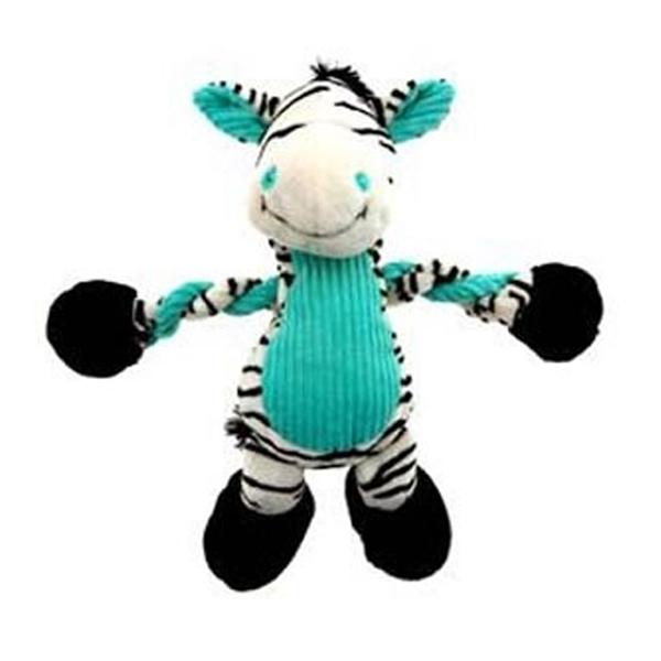 Pulleez Zany Zebra Dog Toy