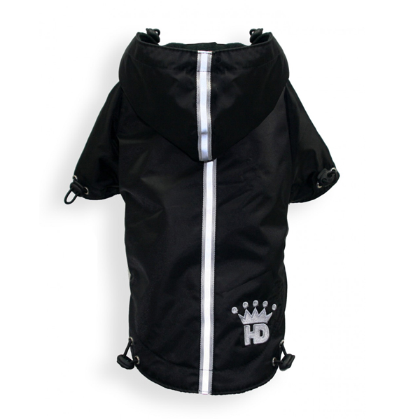 Puppagonia Crown Dog Rain Parka by Hip Doggie - Black
