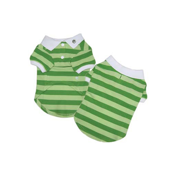 PuppyPAWer Stripe Polo by Dogo - Green