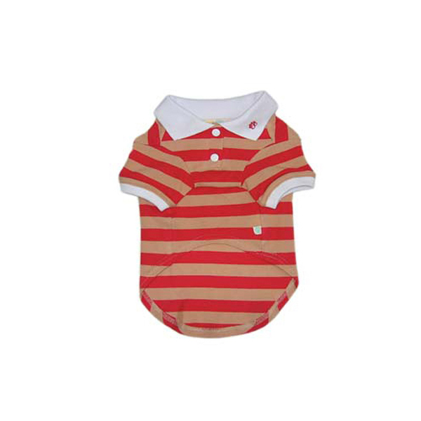 PuppyPAWer Stripe Polo by Dogo - Red