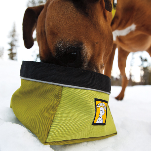 Quencher Travel Dog Bowl by RuffWear - Lichen Green