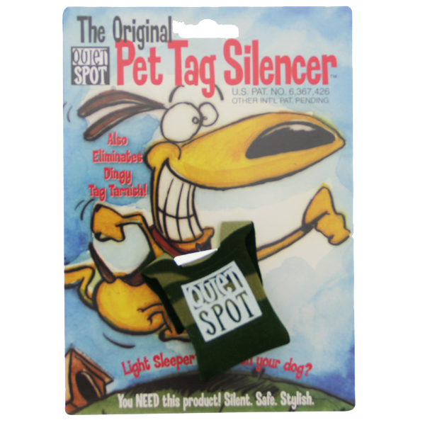 Quiet Spot Pet Tag Silencer - Camo