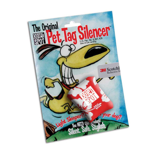 Quiet Spot Pet Tag Silencer - Red Hawaiian