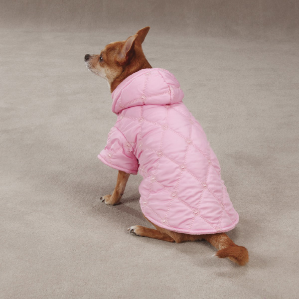 Quilted Pastel Dog Jacket - Pink