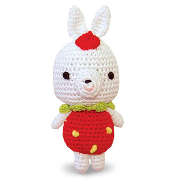 Rabbit Crochet Ball Toy by Dogo