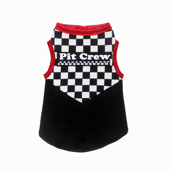 Racing Team Pit Crew Dog Tank Top