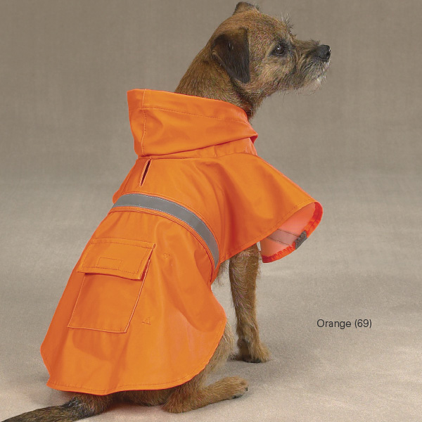 Rain Jacket with Reflective Strip - Orange