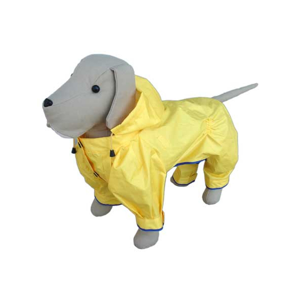 Rainforest Lemon Dog Rainsuit