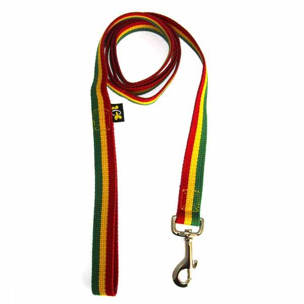 Rasta Colored Dog Collar