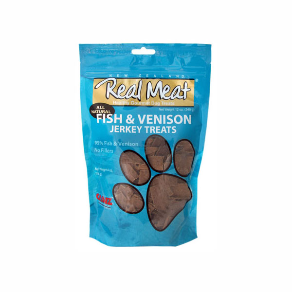 Real Meat Fish & Venison Jerkey Dog Treats