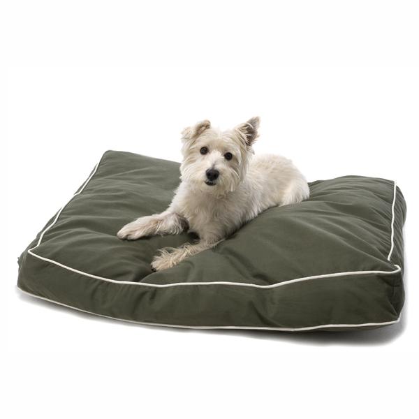 Rectangular Dog Bed By Dog Gone Smart Olive At Baxterboo