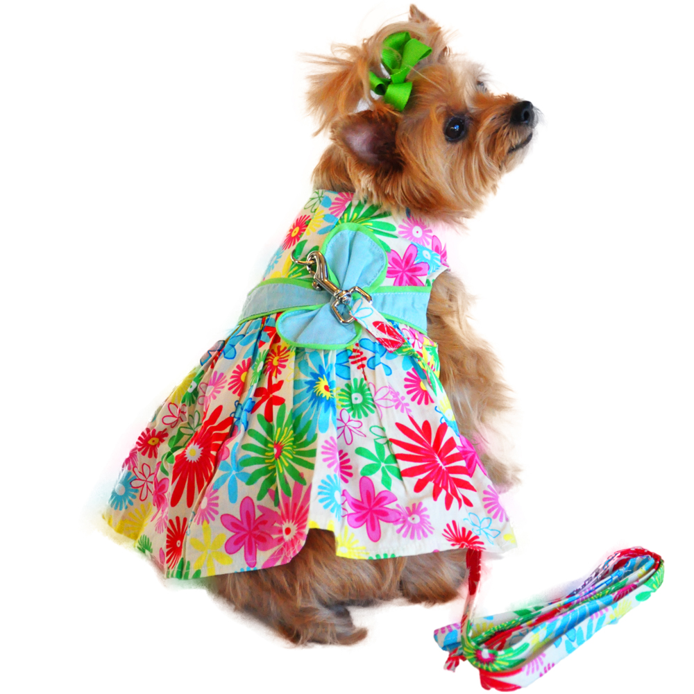 Floral Tuscany Designer Dog Harness Dress | BaxterBoo