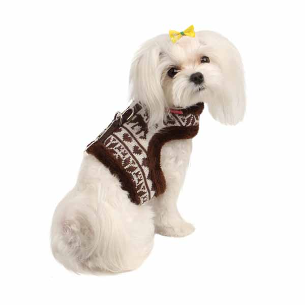 Reindeer Pinka Dog Harness by Pinkaholic - Brown
