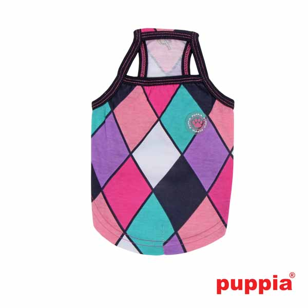 Renaissance Dog Tank Top by Puppia - Navy/Pink