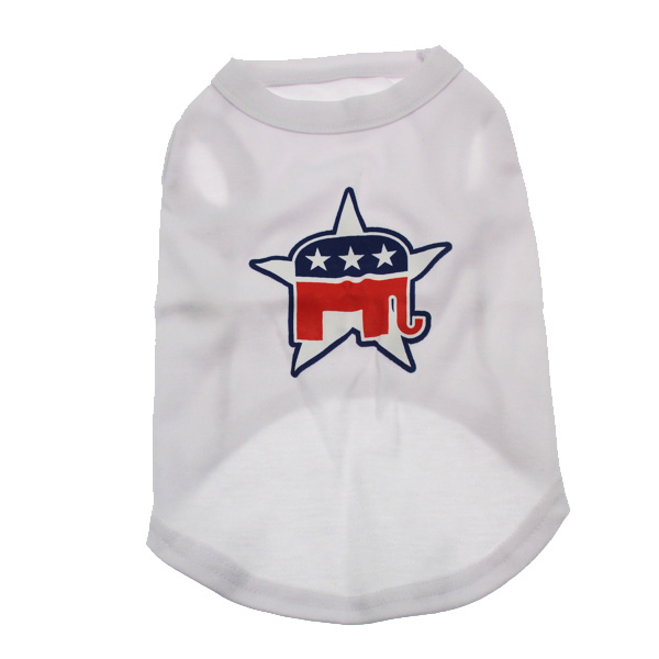 Republican Party Star Dog Tank Top - White