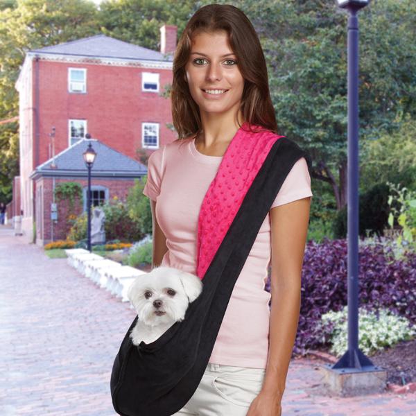 Reversible Sling Dog Carrier - Pink/Black