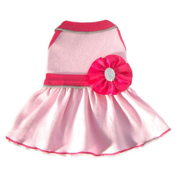 Ribbon Bead Flower GLO Dog Dress