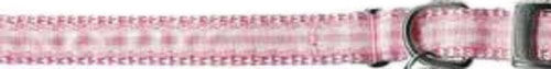 Ribbon Gingham Pink Cat Collar