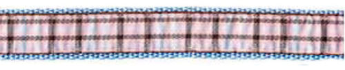 Ribbon London Plaid Blue Dog Leash