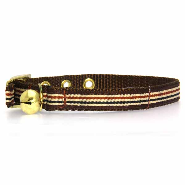 Ribbon London Plaid Brown Cat Collar