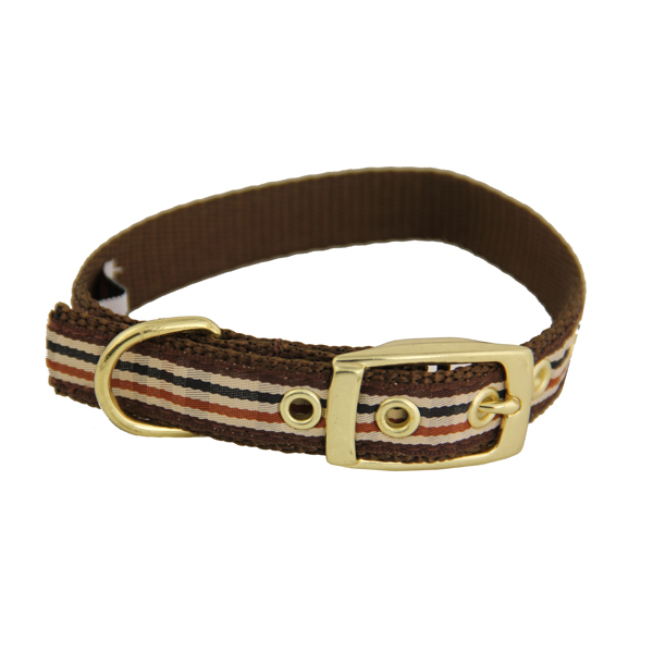 Ribbon London Plaid Brown Dog Collar