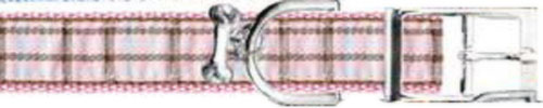 Ribbon London Plaid Pink Dog Collar