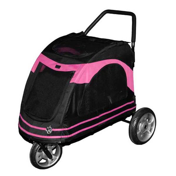 Roadster Pet Stroller - Black/Pink