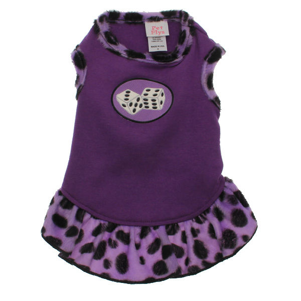 Rockin' Dice Dog Dress with Scented Patch