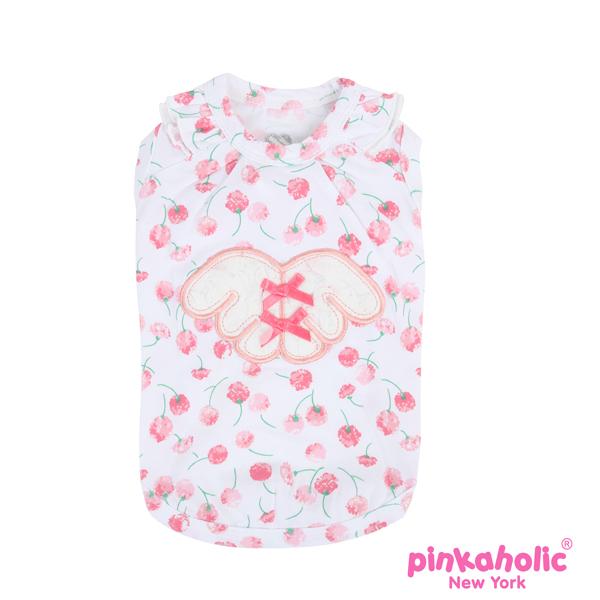 Rosa Dog Shirt by Pinkaholic - White