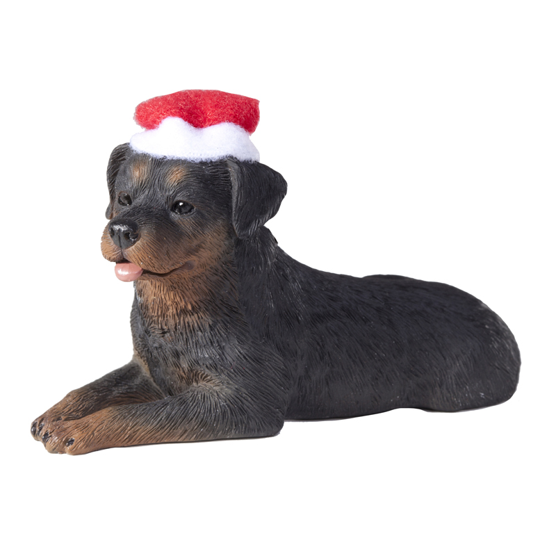 Rottweiler Christmas Ornament - Lying