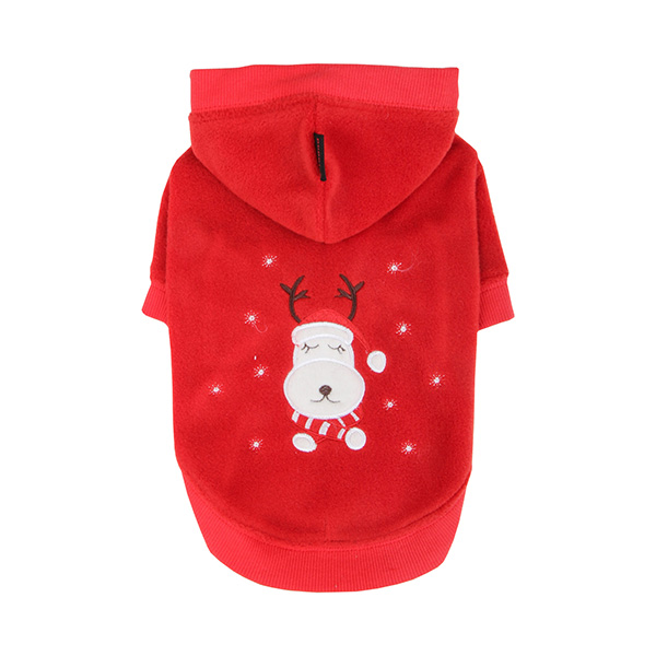 Rudolph Dog Hoodie by Puppia - Red