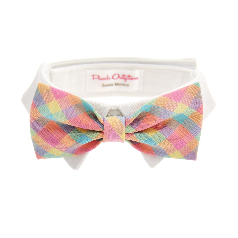Riley Dog Shirt Collar And Bow Tie Pastel Plaid Baxterboo