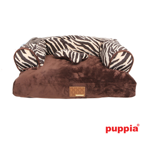 Safari Dog Bed by Puppia - Brown